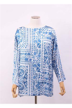 Maxi t-shirt in seta con fantasia mattonella Laboratorio Capri | 8 | MAXITSTILE