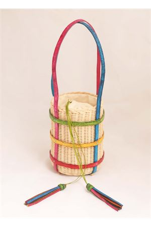 Woven rattan bucket with crocodile handles  Laboratorio Capri | 31 | MIKIMULTI