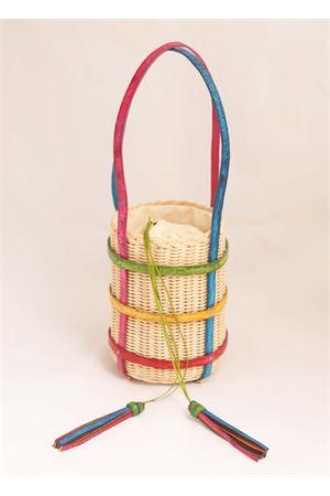 Secchiello in midollino e coccodrillo colorato Laboratorio Capri | 31 | MIKIMULTI