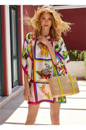 Mini vestito in seta manica pipistrello Laboratorio Capri | 5032262 | MIMOSABOTANICA