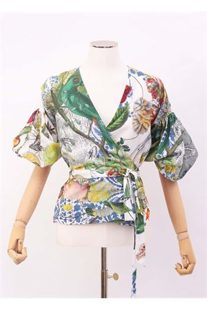 Crossover top with puff sleeves Laboratorio Capri | 40 | MUGHETTOAUTOCTONE