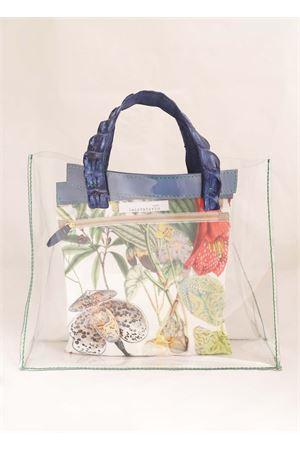 Blue crocodile handles pvc bag  Laboratorio Capri | 31 | NINACOBALTBLUE