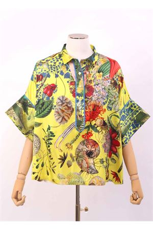 Yellow silk shirt with wide sleeve  Laboratorio Capri | 8 | PANSEAUTOCTONEYELLOW