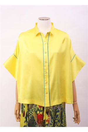 Camicia in seta gialla con manica larga Laboratorio Capri | 6 | PANSEBISGIALLO