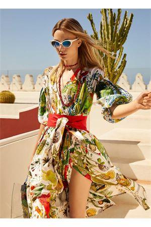 Vestito incrociato svasato a fiori Laboratorio Capri | 5032262 | PEONIAAUTOCTONE