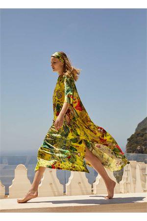 Yellow silk kaftan  Laboratorio Capri | 20000033 | PETALO.AUTOCTONEGIALLO