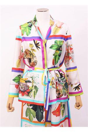 Giacca in seta elegante con stampa di piante Laboratorio Capri | 6 | PIGIAMABOTANICA