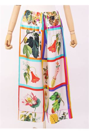 Pantaloni stile pigiama in seta Laboratorio Capri | 9 | PIGIPANTBOTANICA