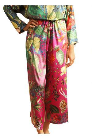 Pantaloni in seta con fiori regolabili Laboratorio Capri | 9 | PILACCIOAUTOCTONEFUCSIA