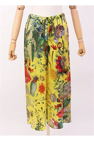 Yellow silk pants with flowers Laboratorio Capri | 9 | PILACCIOAUTOCTONEGIALLO