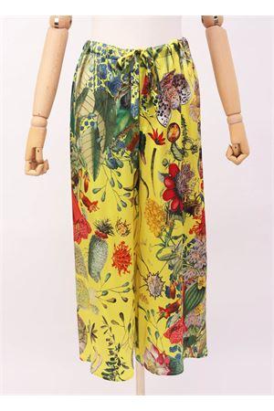 Pantaloni sartoriali in seta fiori Laboratorio Capri | 9 | PILACCIOAUTOCTONEGIALLO