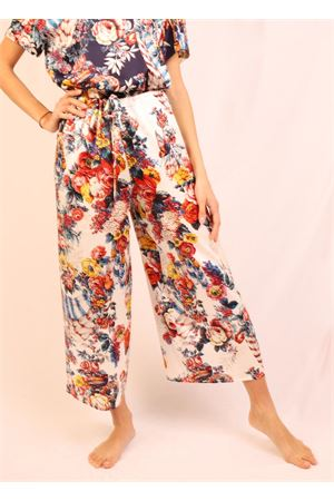 White flower patterned trousers Laboratorio Capri | 9 | PILACCIOSANDARESON