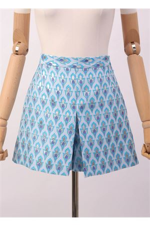 Light blue jacquard short  Laboratorio Capri | 15 | PRIMULAJAQUARDCELESTE