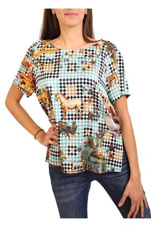 short sleeve t-shirt in silk  Laboratorio Capri | 8 | ROSYSANMICHVERDE