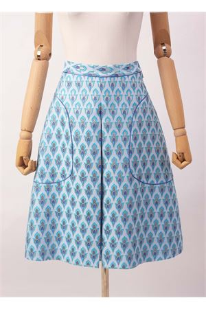 Wide skirt in blue jacquard Laboratorio Capri | 15 | STERLIZZAJAQUARDCELESTE