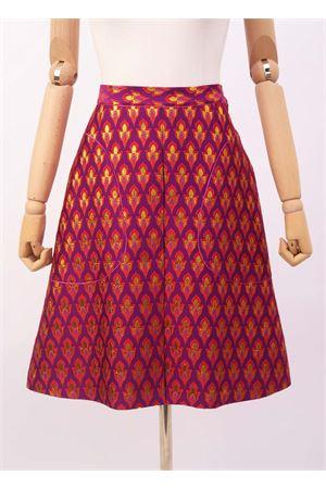 Wide skirt in fuchsia jacquard Laboratorio Capri | 15 | STERLIZZAJAQUARDROSSO