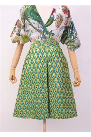 Wide skirt in green jacquard Laboratorio Capri | 15 | STERLIZZAJAQUARDVERDE