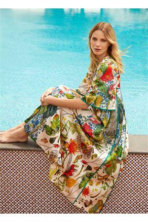 Tunica in seta a fiori mezze maniche Laboratorio Capri | 5032262 | TULIPAUTOCTONE