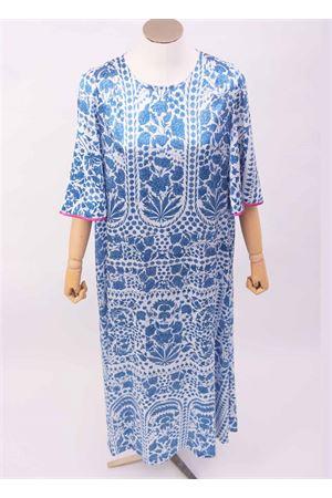 Tunica in seta con disegno di mattonelle a mezze maniche Laboratorio Capri | 5032262 | TULIPTILE