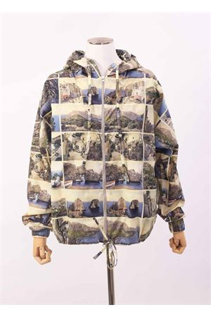 Unisex Wind coat jacket with postcard printing Laboratorio Capri | 3 | ZAGARAMULTICARTOLINE