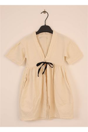 Dust trench coat in linen for baby girl  Little creative factory | 3 | LCF58BEIGE