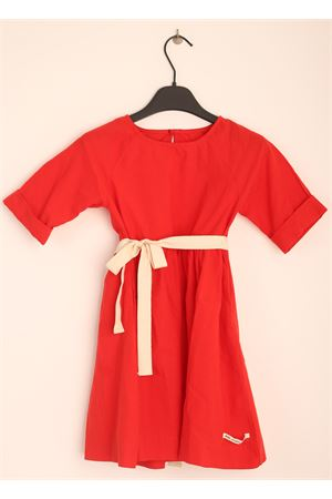 Red dress with bow in the wais for girl  Little creative factory | 5032262 | LCF61BROSSO