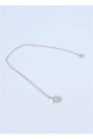 Collana in argento con corno e campanella di Capri Manè Capri | 35 | COLLANA CORNOBIANCO