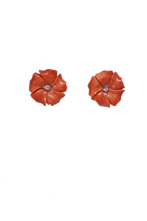 Red flowers coral earrings  Mediterranee Passioni | 48 | AF800ROSSI