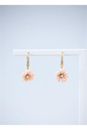Diamonds and gold flower shaped earrings Mediterranee Passioni | 48 | AK728ROSA