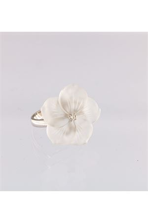 White flower ring with diamond Mediterranee Passioni | 5032250 | AL174BIANCO