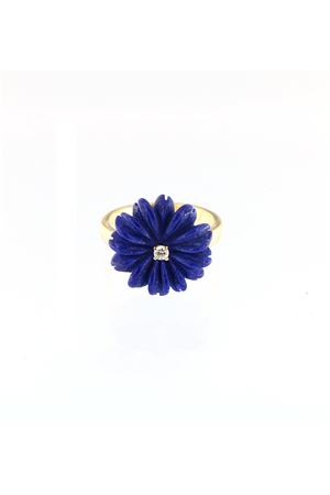 Blue flower shaped ring in gold  Mediterranee Passioni | 5032250 | AL178LAPISLAZZULI