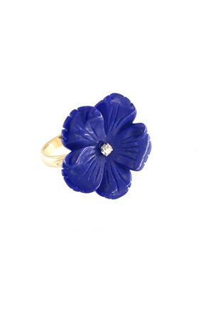 Blue flower shaped ring in gold Mediterranee Passioni | 5032250 | AL179LAPISLAZZULI