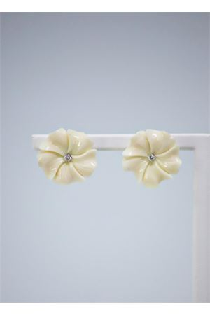 White coral flowers earrings  Mediterranee Passioni | 48 | AL279BIANCO