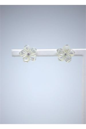 White flowers diamonds and white gold earrings Mediterranee Passioni | 48 | AL296BIANCO