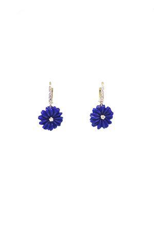 Blu flowers earrings in gold and diamonds Mediterranee Passioni | 48 | AL318BLU