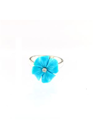 Turquoise flower shaped ring Mediterranee Passioni | 5032250 | AL338TURCHESE