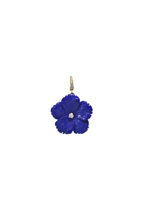 Blue flower pendant in 18 kt gold and diamond Mediterranee Passioni | 5032249 | AL347BLU