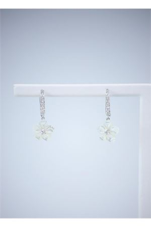 White flowers mother of pearl earrings  Mediterranee Passioni | 48 | AL357BIANCO