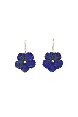 Blue floers earrings with diamonds Mediterranee Passioni | 48 | LA317BLU