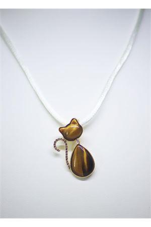 Brown pendant cat shaped in gold and diamonds Mediterranee Passioni | 5032249 | LISA 18KTBEIGE - MARRONE