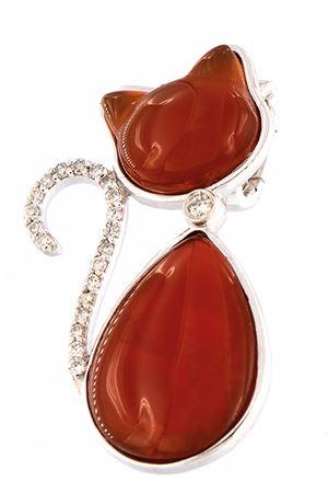 Pendant cat shaped in gold and diamonds  Mediterranee Passioni | 5032249 | MARTIN 9 KTARANCIO