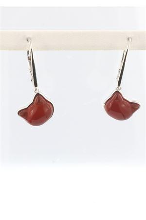 Cat head earrings in carnelian and 925 silver Mediterranee Passioni | 48 | MARTINACORNIOLA