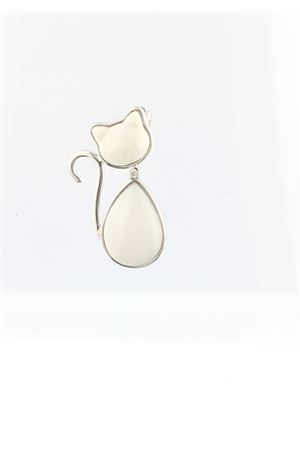 White cat shape pendant with diamond Mediterranee Passioni | 5032249 | MATISSE ARGENTO 925BIANCO