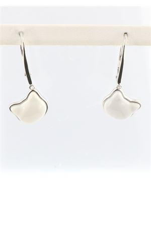 Orecchini pendenti in argento e agata bianca a forma di gatto Mediterranee Passioni | 48 | MATISSEAGATABIANCA