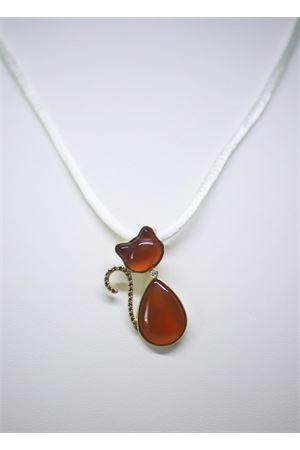 Cat shaped pendant with brown diamonds Mediterranee Passioni | 5032249 | SAMMY 18KTARANCIO