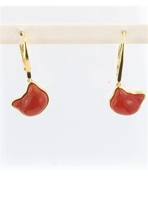 Cat- shaped pendants earrings in 925 silver Mediterranee Passioni | 48 | SAMMYARANCIOCORNIOLA