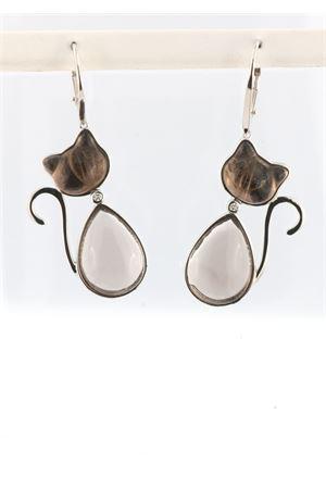 Cat pendant earrings in Smoky Quartz and diamond Mediterranee Passioni | 48 | SHANELDIAMONDSQUARZOFUME