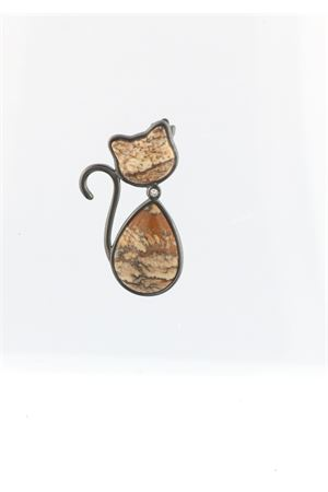 Cat shaped pendant with diamond  Mediterranee Passioni | 5032249 | UGHINA18ktBEIGE E MARRONE