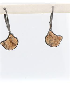 Jasper cat-shaped pendant earrings Mediterranee Passioni | 48 | UGHINADIASPRO