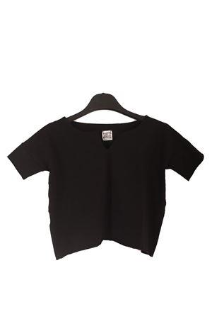T-shirt cropped nera da ragazza Orimusi | 8 | ORI504BNERO